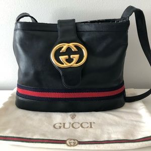 Vintage Gucci GG logo Tote Handbag Bag